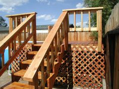 Check out these Above Ground Pool Deck ideas for your yard and pool including resin and wood stuctures. Pool Steps, Deck Steps, Above Ground Pool Stairs, Wood Pool Deck, In Ground Pools, Backyard Ideas, Outdoor Decor, Swimming Pool Steps, Garden Ideas