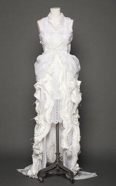 182daddd61 Lilly Lorraine white avant-garde gown for the Austin Fashion Week Noir  Fashion Show.