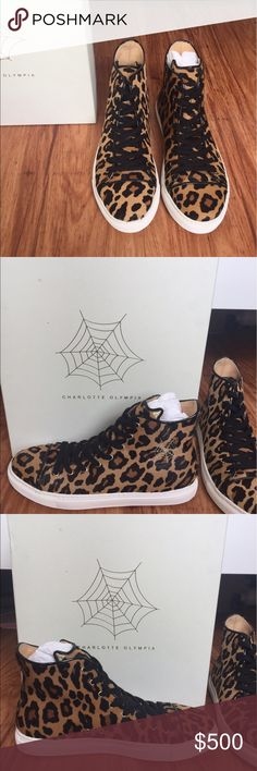 Charlotte Olympia Pony Skin Leopard High Tops Charlotte Olympia Pony Skin Leopard High Tops -never worn! Charlotte Olympia Shoes