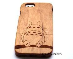 totoro Phone CaseWood iPhone CaseSuitable for by prettywooden