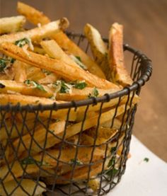 Healthy Homemade French Fries Recipe with Garlic and Parmesan