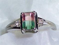 Women\'s Watermelon Tourmaline Ring