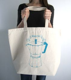 Eco Friendly Canvas Tote Bag  Large Recycled by ohlittlerabbit, $17.50