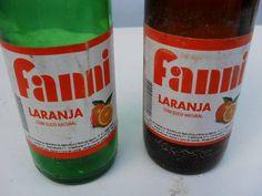 antiga garrafa de laranja fanni  - 290 ml - rotulo de papel