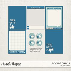 Free Social #projectlife Cards from Traci Reed Designs when you join the Traci Reed Designs group on The Pocket Source!