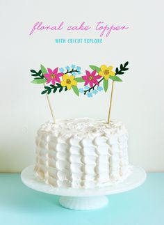 DIY: floral cake topper with Cricut Explore | The Sweet Escape