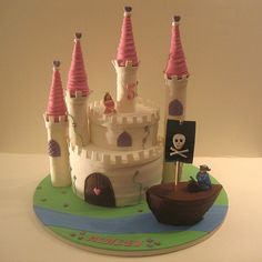 princess and pirate party cake