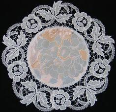 Advanced Embroidery Designs - FSL Battenberg Rose Lace Doily