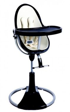 Bloom Fresco Chrome High Chair / Black