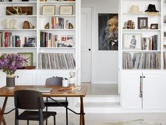 Book storage in a rustic and modern house