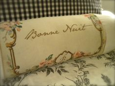 handmade French Bolster = learn how to to make your own printed fabric & bolster design