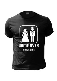 Game Over Personalised Stag T-Shirt