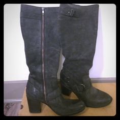 """Born """"Natasha"""" Boots - size 8 Gently used - 3"""" heel. 15"""" boot height. Comes with original box. Born Shoes Heeled Boots"""