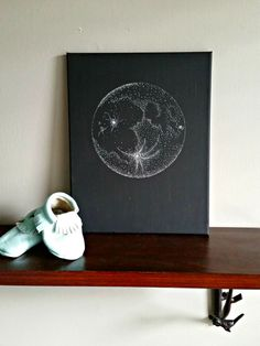 Moon Canvas by BabyJuliette on Etsy