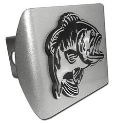 This Bass Fish Brushed Chrome Hitch Cover is Made in the USA. A step above in quality and appearance. http://www.prideonmyride.com/Bass-Fish-Brushed-Chrome-Hitch-Cover_p_349.html