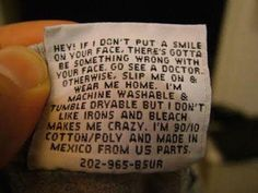 funny clothing tags laundry labels 16 605 Dont forget to check the label before washing (20 Photos)