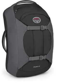 Osprey Porter 46 Travel Pack (backpack). No more wheeled bags.  Research/evaluate and purchase for travel