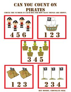 """""""Can You Count On?"""" Pirate Themed Worksheet"""