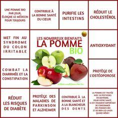 Les bienfaits de la pomme bio