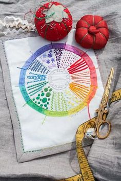 For those that love color theory and hand embroidery, Dropcloth Sampler has created a beautifully crafty combination of the two. The Color Wheel embroidery sampler features a circular pattern divided into 12 segments, and each piece of the pie has one stitch of its own. What colors you choose is up to you!