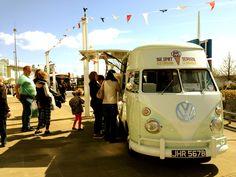 Our stunning VW Vintage ice cream van - keeping people smiling!
