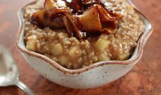 Steel-Cut Oats With Maple-Roasted Apples And Cheddar Recipes ...