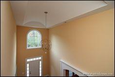 Shallow barrel vault foyer design for a contemporary custom home.