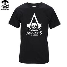 Top quality Cotton men t-shirt short sleeve Tshirt casual fashion tee shirt men assassins creed print T shirt T01