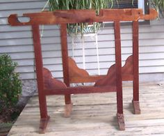antique-quilting-frame-old-reddish-finish-on-pine-wood-7-9-long-farm-made
