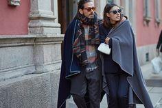 beforeeesunrise:  Milan Fashion Week FW16 Day2 Giotto Calendoli & Patricia Manfield Photo by YuYang