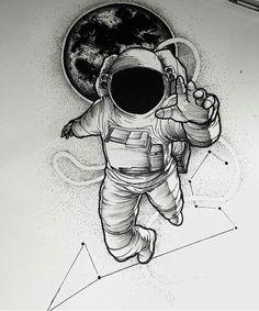 Tattoo cosmonaute