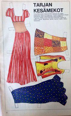 Paper doll Tarja Markus clothes