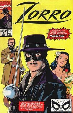 Zorro (1990 Marvel) 2 Marvel Comics Modern Age Comic book covers Super Heroes Villians
