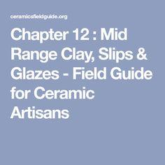 Chapter 12 : Mid Range Clay, Slips & Glazes - Field Guide for Ceramic Artisans