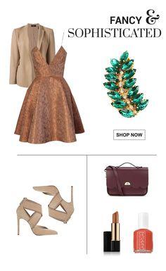 Fancy fall outfit wearing a leaf brooch.