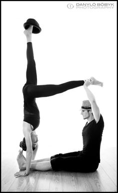 I don't think I will ever master this pose--flexibility, balance, and strength - fun partner yoga pose.