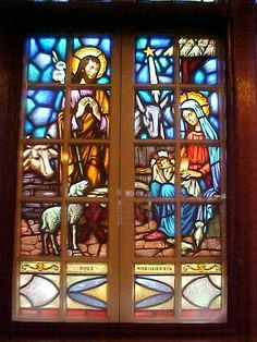"+ Stained Glass Windows of: ""The Nativity"" + 