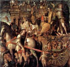 Julius Caesar on a triumphal car - Andrea Mantegna