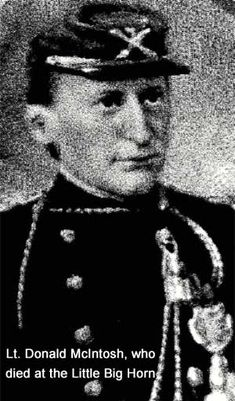 Lt. Donald McIntish, who was killed at the Battle of the Little Big Horn