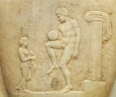 When ancient Greeks were playing soccer