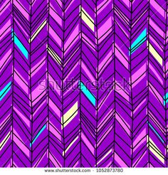 Chevron purple pattern. Seamless illustration with hand drawn lines.