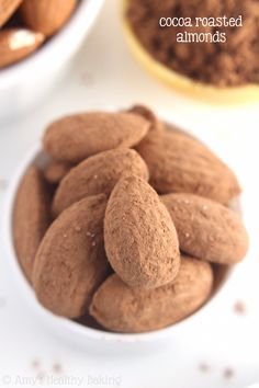 """Cocoa Roasted Almonds"" -- ""A 3-ingredient recipe for chocolaty almonds that are ready in 20 minutes!"""