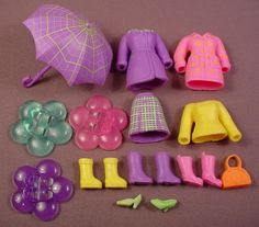 fashion polly 2001 | Polly Pocket 2005 16 Piece Lot Of Clothes & Accessories From A Rainy ...