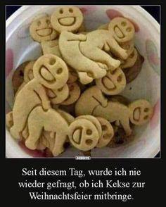 Lustige Kekse für die Weihnachtsfeier!