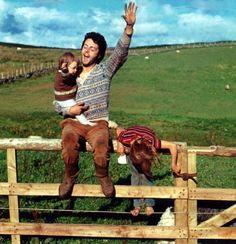 Paul McCartney and kids