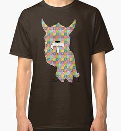 Emoji Emoticon Pattern Illustration by Gordon White | Brown Emoji Classic Tshirt Available in All Sizes @redbubble --------------------------- #redbubble #emoji #emoticon #smiley #faces #cute #addorable #pattern #classic #tshirt #shirt #tee #apparel #clothing