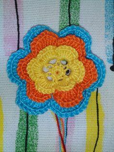 crochet's_monia (@crochets_monia)   Twitter Dettaglio fiore applicazione borsa - bag - flower - crochet