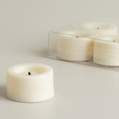 One of my favorite discoveries at WorldMarket.com: Flameless LED Tealight Candles, 4-Pack