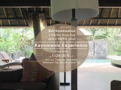Die Boutiquehotels Kayumanis Nusa Dua und Kayumanis Ubud bieten Ihnen einen luxuriösen Urlaub auf Bali in Ihrer eigenen Pool Villa und einem Service der seines Gleichen sucht.  Kombireise 4 Nächte Nusa Dua und 2 Nächte Ubud 01.11.15 - 23.12.15 und 04.01.16 - 31.03.16. #Kayumanis #KayumanisExperience #KayumanisNusaDua #KayumanisUbud  #Boutiquehotel #Boutiqueresort #Indonesien #Bali #NusaDua #Ubud #IndonesienTourismus #TourismusIndonesien #Tourismustv