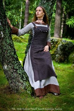 Interesting apron dress with lacing at the sides and over two dresses. Photo by Micke Karlsson https://www.facebook.com/Ghostheartphoto/timeline Model is Jeanette Cederström Karlsson https://www.facebook.com/Angelofdark666
